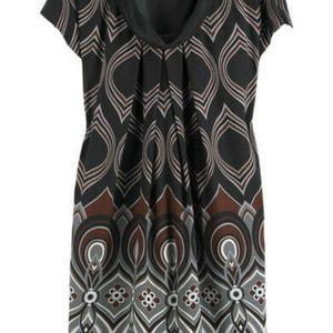 Tibi Size 2 Cowl Neck Silk Mini Dress Short Sleeve